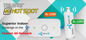 Telenor Launches 4G Hotspot Devices in Pakistan - See Price & Packages